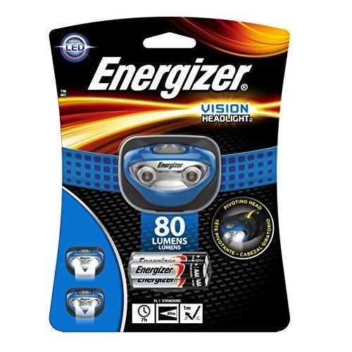 Energizer HDA32E Vision LED Headlight, 80 Lumens