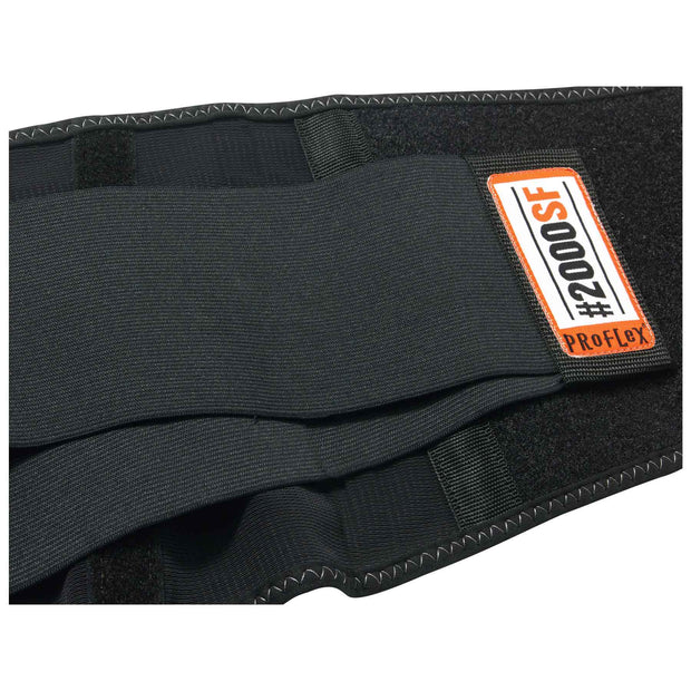 Ergodyne 11284 ProFlex 2000SF High-Performance Spandex Back Support, Large, Black