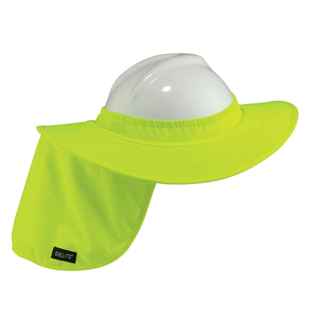 Ergodyne 12640 Hi-Viz Lime Hard Hat Brim with Shade