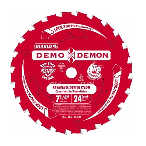 "Freud D0724DA 7-1/4"" Diablo Demo Demon Circular Saw Blade"
