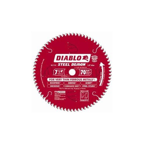 "Freud D0770F 7-1/4"" x 70T x 5/8 Diablo Steel Demon Ferrous Cutting Saw Blade"