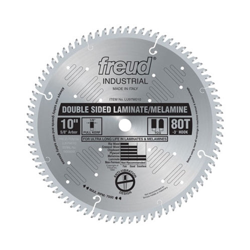 Freud LU97M010 10 x 80 x 5/8 TCG Double Sided Laminate Saw Blade