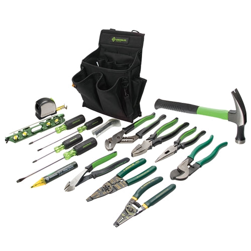 Greenlee 0159-12 Journeyman's Tool Kit, 17 pc