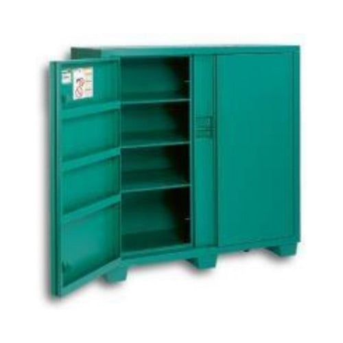 "Greenlee 5760TD Two Door 30"" Depth Storage Cabinet - 56x60x30 Jobsite Workshop Storage cabinet"