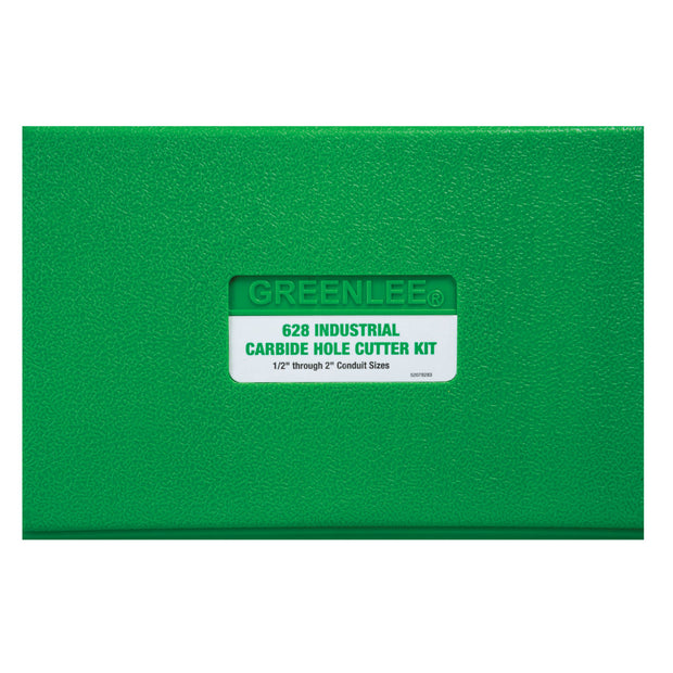 "Greenlee 628 8 Piece Carbide Hole Cutter Kit, 1/2"" - 2-1/2"""