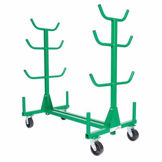 Greenlee 668 Mobile Conduit and Pipe Rack with Casters