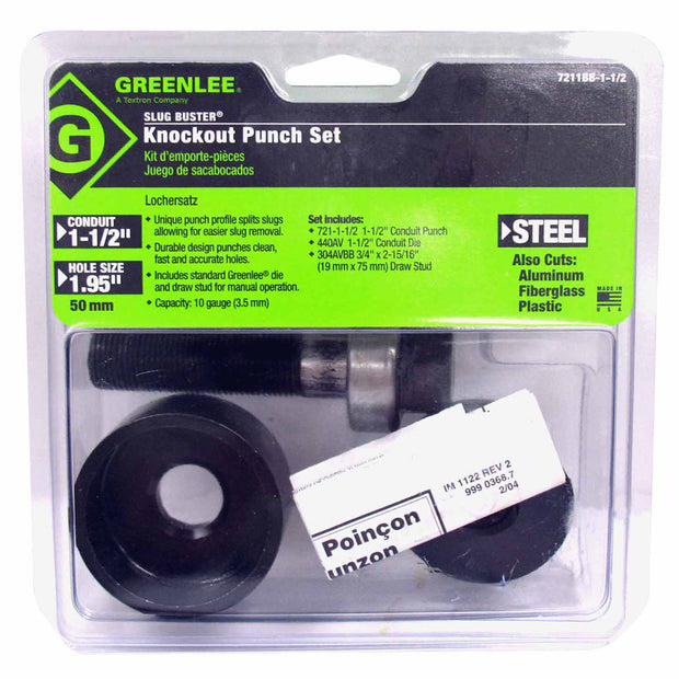 "Greenlee 7211BB-2 2"" Conduit-Size Slug-Buster Knockout Punch Unit"