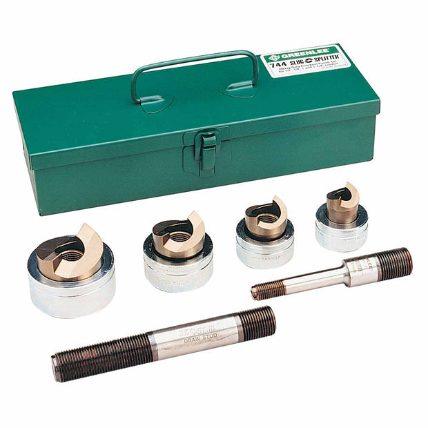 "Greenlee 744 1/2"" - 1-1/4"" Conduit Size Slug-Splitter SC Knockout Punch Kit"