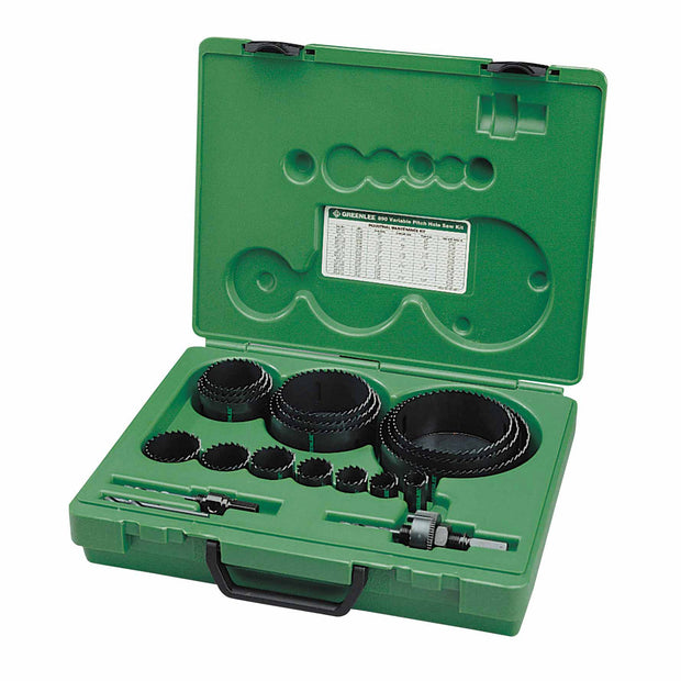 Greenlee 890 Industrial Hole Saw Set