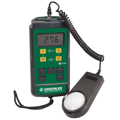 Greenlee 93-172-C Digital Light Meter (Calibrated)