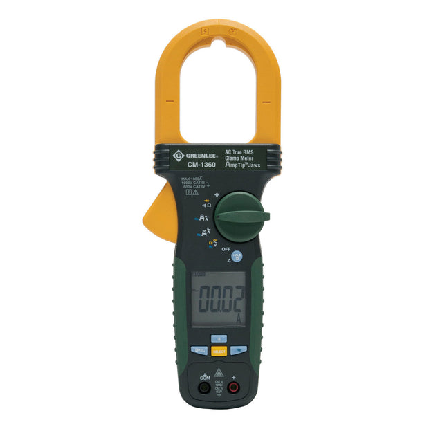 Greenlee CM-1360-C 1000 Amp AC True RMS Calibrated Clamp Meter