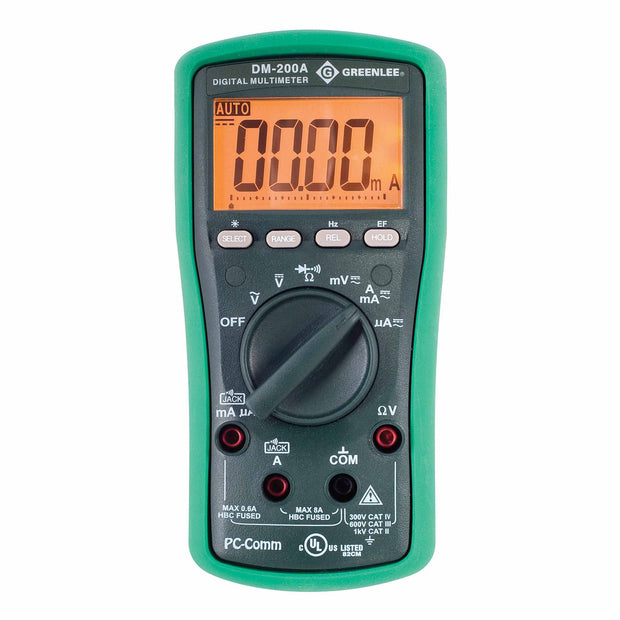 Greenlee DM-200A High Visibility Digital Multimeter