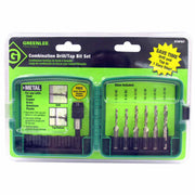 Greenlee DTAPKIT 6-32 to 1/4-20 6 Piece Drill/Tap Set