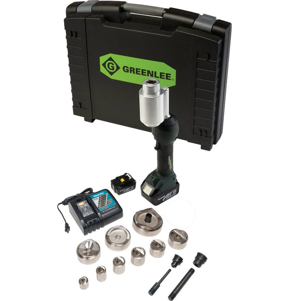 "Greenlee LS100X11SBSP4X INTELLIPUNCH 11-Ton Set, SBSP 1/2"" - 3"" and 4"""