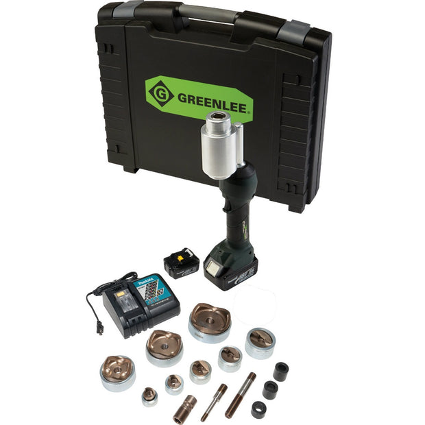 "Greenlee LS100X11SS4X INTELLIPUNCH 11-Ton Set, SS 1/2"" - 3"" and 4"""