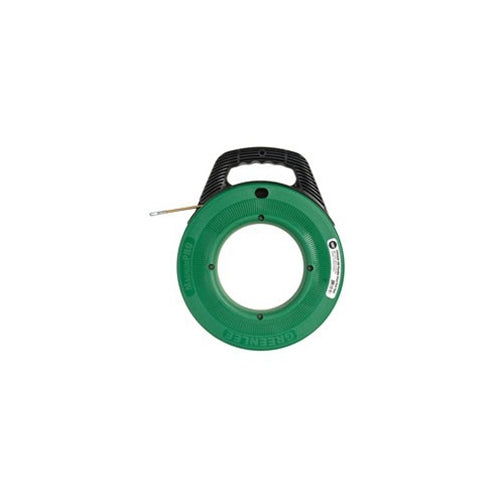 "Greenlee FTFS439-100 Magnum Pro 3/16"" x 100' Flexible Steel Fish Tape with Case"