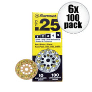 Ramset 4D60 .25 Caliber Disc Load Yellow Power 4, 100 Shots
