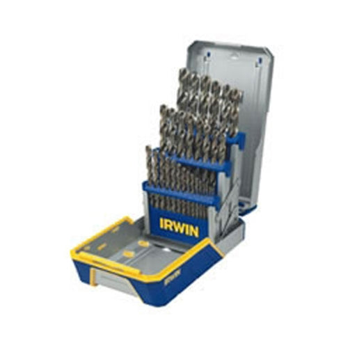 Irwin 3018002 29-Piece Cobalt M-35 Metal Index Drill Bit Set