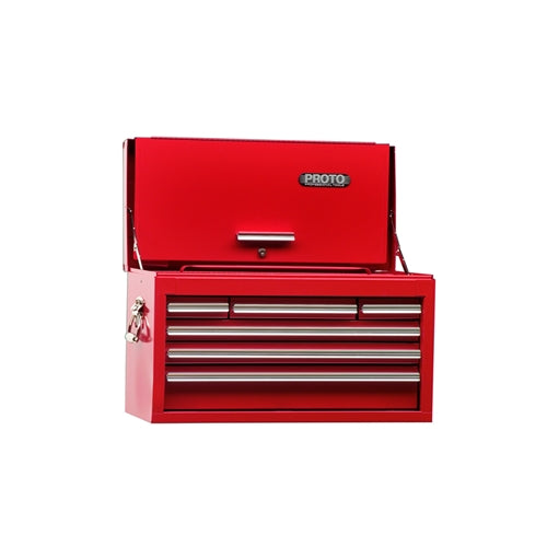 Proto J442715-6RD-D 26-1/4W X12D X 15H Red 6-Drawer Chest With Drop Front