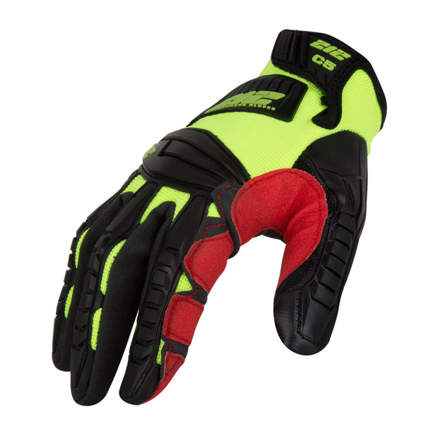 212 Performance IMPC5-88-010 Impact Cut 5 Super HiViz Large Gloves