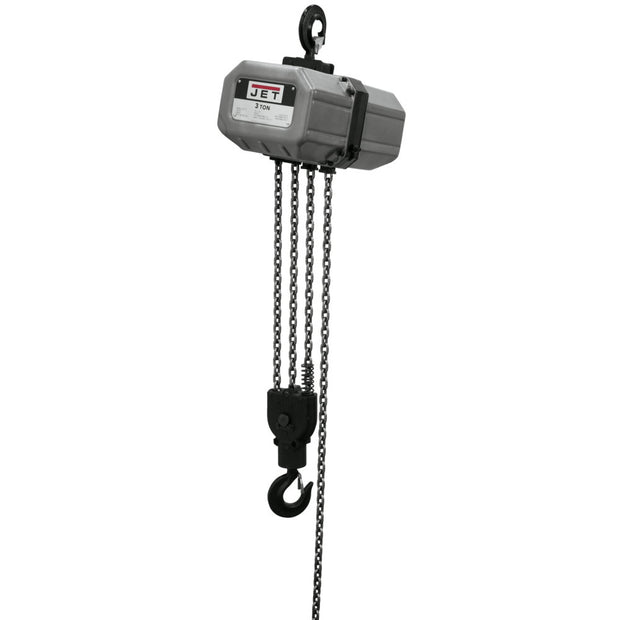 Jet 311000 3SS-1C-10, 3-Ton Electric Chain Hoist 1-Phase 10' Lift