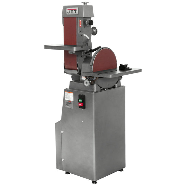"Jet 414553 J-4202A, 6"" x 48"" Industrial Belt and Disc Finishing Machine 230V 3PH"