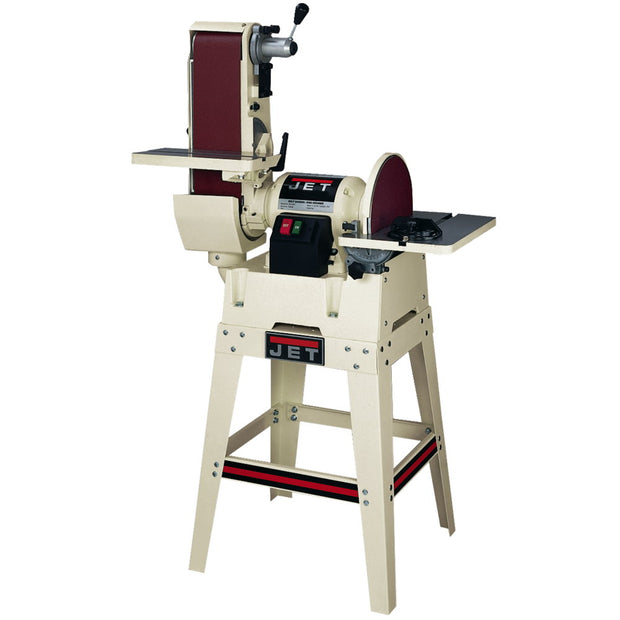 "Jet 708599K JSG-6DCK, 6"" x 48"" Belt / 12"" Disc Sander with Open Stand"
