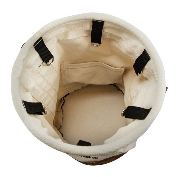 Klein 5104OCTO Leather-Bottom Bucket with Connection Points