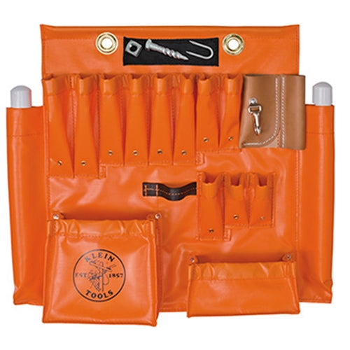 Klein 51829 Aerial Apron Orange Vinyl Large