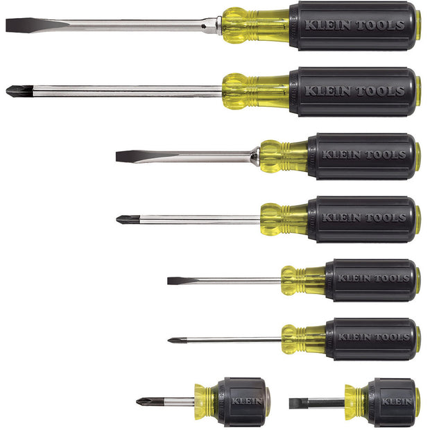 Klein 85078 8-Piece Cushion-Grip Screwdriver Set