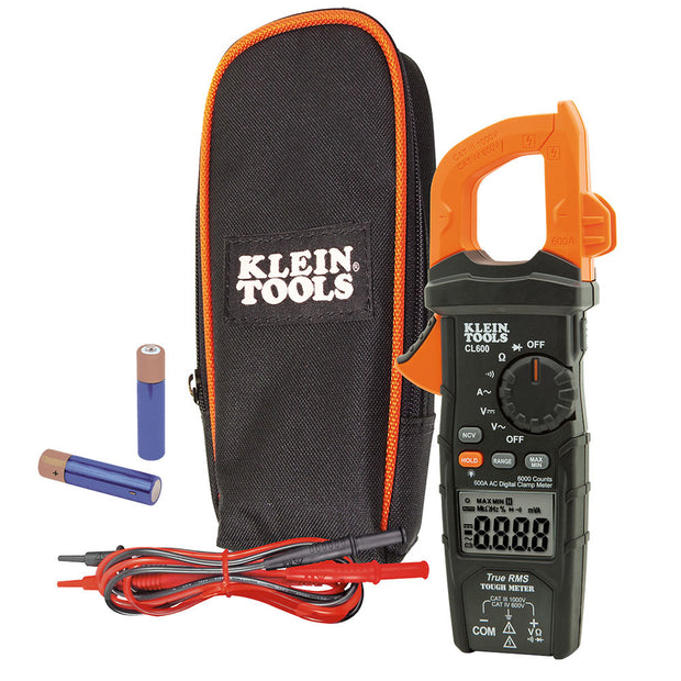 Klein CL600 Digital Clamp Meter, AC Auto-Ranging, 600A