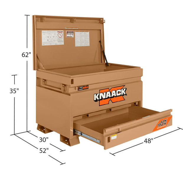 "Knaack 4830-D 48"" x 30"" x 35"" Jobsite Chest with Junk Trunk"