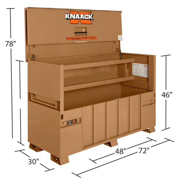 "Knaack 91 72"" x 30"" x 49"" Storagemaster Chest with Ramp"