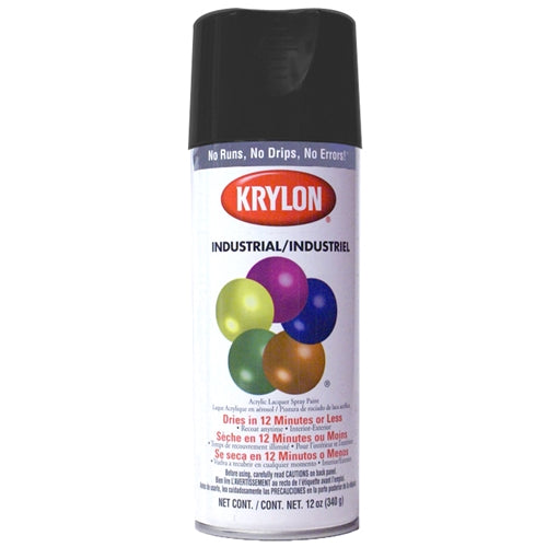 Krylon 1602 Ultra-flat black spray paint 12oz