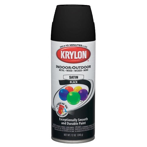 Krylon 1613 Semi flat black spray paint 12oz