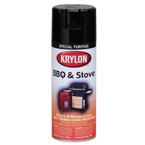 Krylon 1618 High Heat Black BBQ and Stove Spray Paint 12oz.