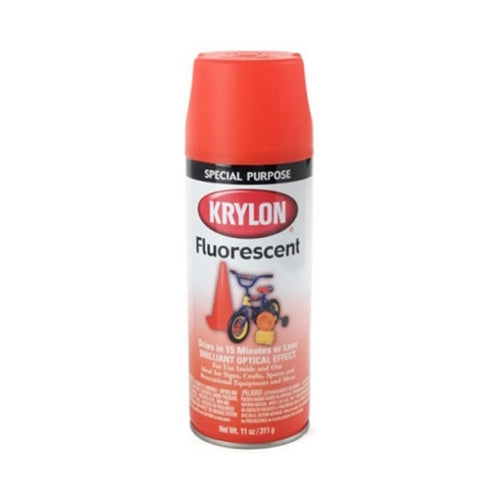 Krylon 3101 Red-orange fluorescent spray paint