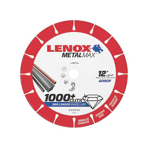 "Lenox 1972927 MetalMax Diamond Cutoff Wheel 12"" x 1"""