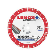 "Lenox 1972932 MetalMax Diamond Cutoff Wheel 14"" x 1"""