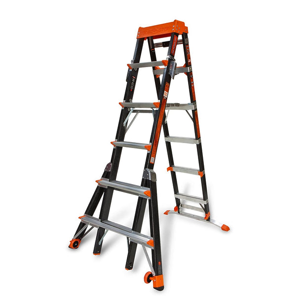 Little Giant 15131-001 Select Step 6' - 10' Adjustable Fiberglass Stepladder