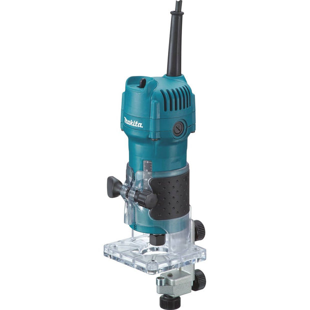 "Makita 3709 1/4"" Laminate Trimmer, fixed base"