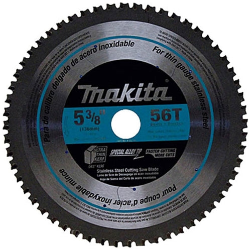 "Makita A-95794 5-3/8"" 56T Carbide Stainless Steel Cutting Blade"