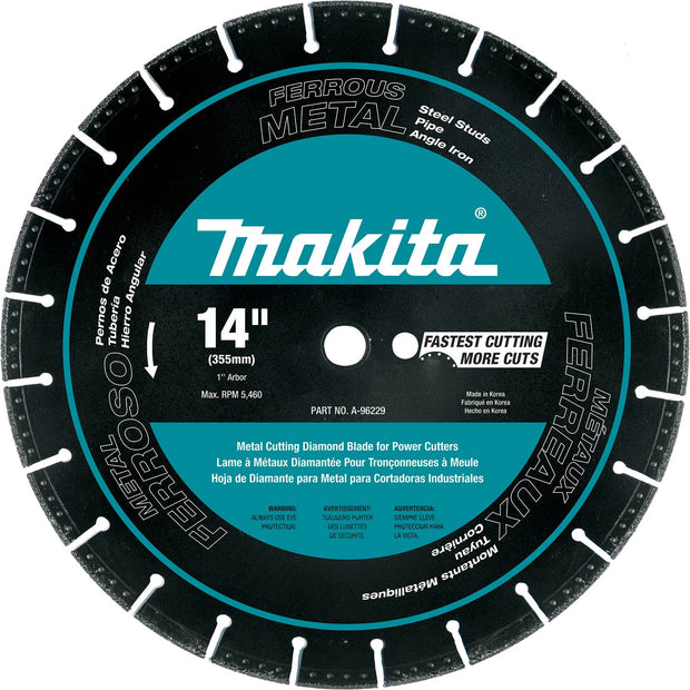 "Makita A-96229 14"" Circular Diamond Blade, Segmented, Metal Cutting"