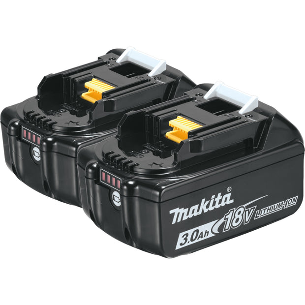 Makita BL1830B-2 18V LXT Li-Ion 3.0Ah Battery, 2-Pack
