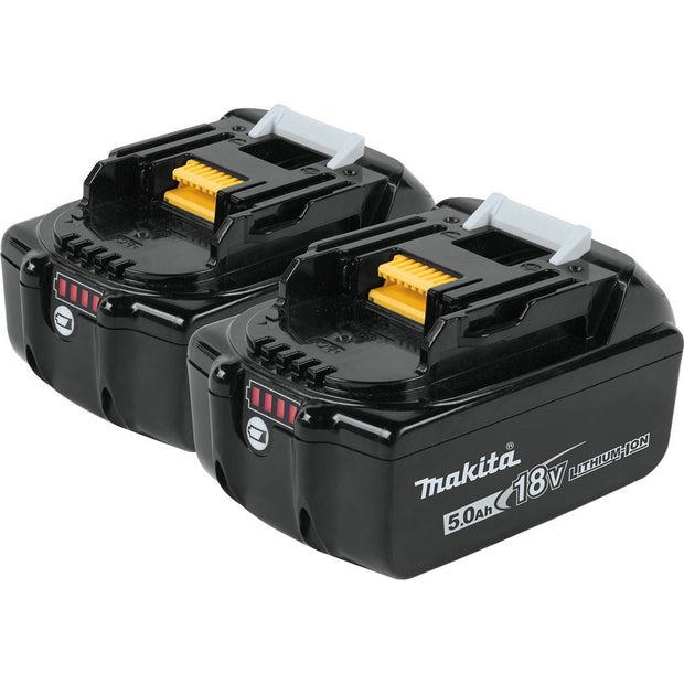 Makita BL1850B-2 18V LXT Lithium-Ion 5.0Ah Battery, 2 Pack