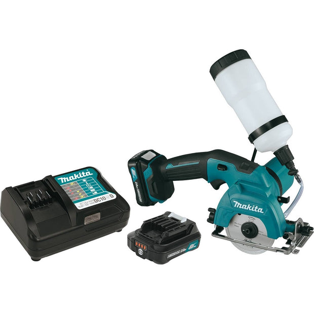"Makita CC02R1 12V Max CXT 3-3/8"" Tile and Glass Saw Kit"