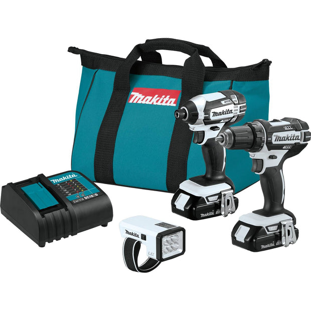 Makita CT322W 18V LXT Li-Ion Compact Cordless 3 Piece Combo Kit (1.5Ah)