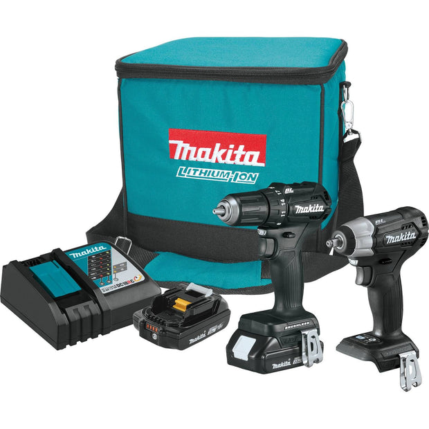 Makita CX201RB 18V LXT Lithium-Ion Sub-Compact Brushless 2 Piece Combo Kit