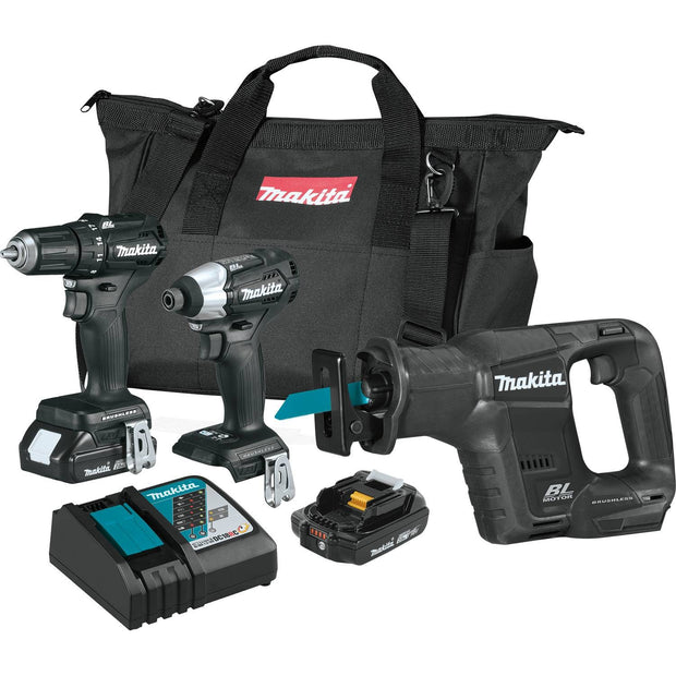 Makita CX300RB 18V LXT Lithium-Ion Sub-Compact Brushless 3-Pc. Combo Kit