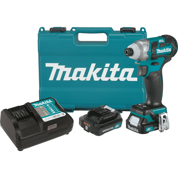 Makita DT04R1 12V max CXT Li-Ion Brushless Impact Driver Kit, 2.0Ah